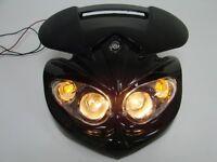 Black Motorcycle Head Light Dual Sport For Ducati Street Fighter Dirtbike Custom on sale