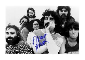 Frank-Zappa-amp-The-Mothers-of-Invention-A4-signed-poster-Choice-of-frame