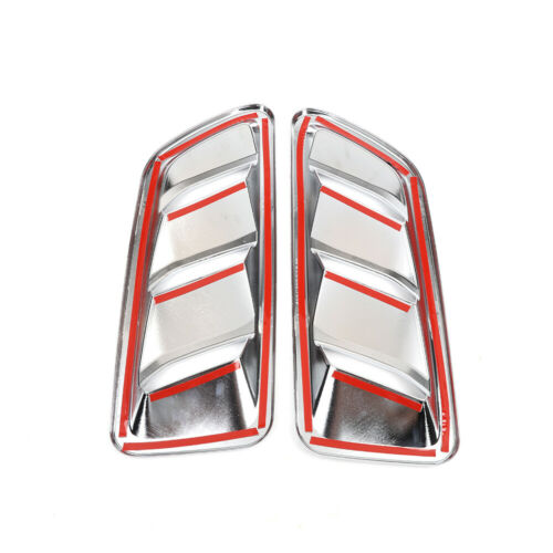 Chrome Front Engine Hood Air Vent Cover Decoration For Jeep Wrangler JL 2018+