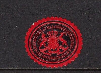 402953/ Siegelmarke - G. Benedict - Berlin W. - Leipziger Str. 136