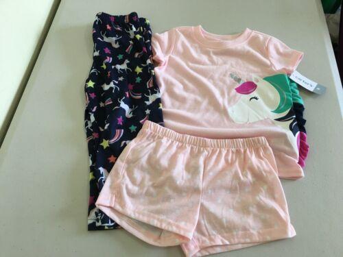 New Carter/'s Girls Unicorn Pajama 3pc Set 3T,4T,5