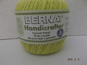 Bernat Handicrafter Crochet Thread Size 5 Buttercup 3 Oz 371