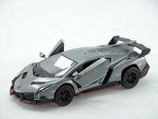Kinsmart Lamborghini Veneno (Gray) 1:36 Die Cast Metal Collectable Car