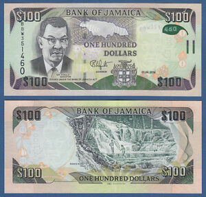 Jamaica 100 Dollars 2016 Hybrid Unc P New Self-Conscious Jamaika