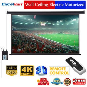 100-034-16-9-3D-Electric-Motorized-HD-Projector-Projection-Screen-Cinema-Theater