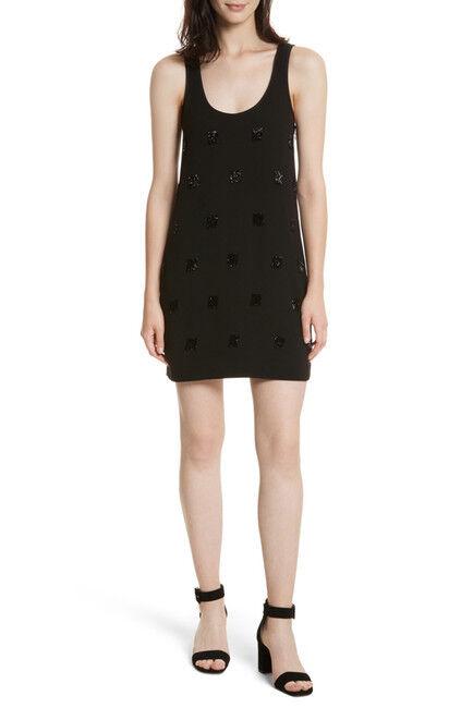 NEW Elizabeth and James Grüne Beaded Fringe Minidress in schwarz - Größe 6