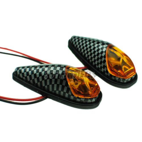 Motorcycle Surface Mount Turn Signal Lights Side Marker for Yamaha YZF R1 R6 FZ