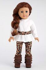 Fashion Safari - 18 inch Doll Clothes, Tunic Cheetah Leggings Fringed Boots