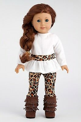 Fashion Safari - 18 inch Doll Clothes, Tunic Cheetah Leggings Fringed Boots
