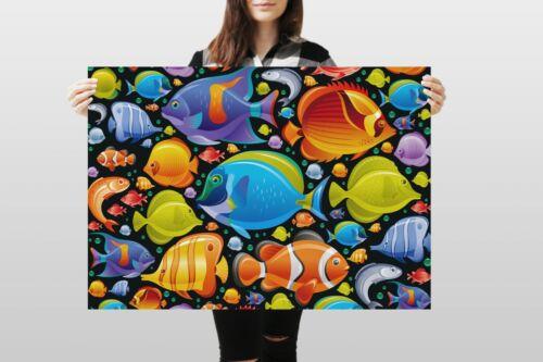 A1Tropical Fish Poster Art Print 60 x 90cm 180gsm Diving Dive Surf Gift #8333