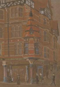 Attrib. Richard Jeffery Salter  - 20th Century Pastel, King St, Nottingham