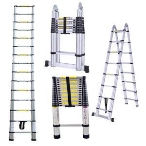 Scala-Telescopica-Alluminio-Scala-Multifunzione-Scala-Scaletta-Pieghevole-Scala