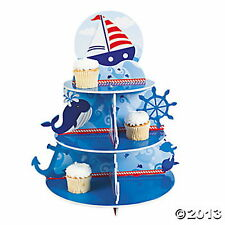SAILOR NAUTICAL anchor PARTY Cupcake Holder UNIQUE ADORABLE PARTY CENTERPIECE