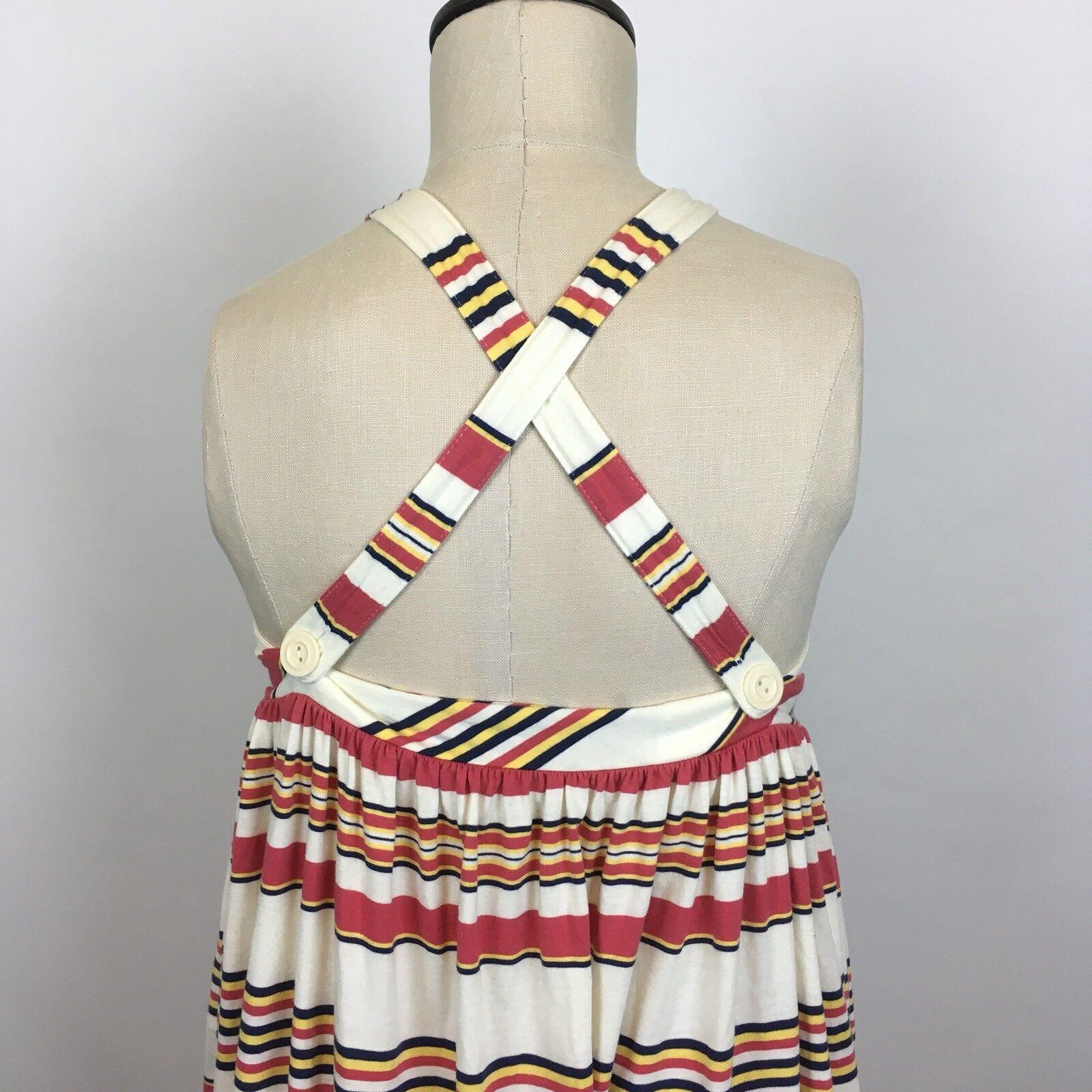 Ralph Lauren Womens Striped Sleeveless Dress Dress Dress With Straps Size XL A094 4a0c1a
