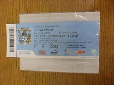 02/05/2010 BIGLIETTO: Coventry City V Watford (SKY creazioni Lounge). se non previ