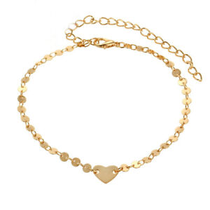 Anklet-Jewelry-Heart-Barefoot-Ankle-Beach-Beads-Chain-Foot-Gold-Bracelet