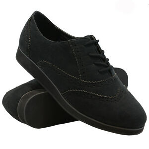 ff8f91ae249f4 WOMENS FLAT SHOES LADIES GIRLS LACE UP SMART OFFICE VINTAGE BROGUE ...