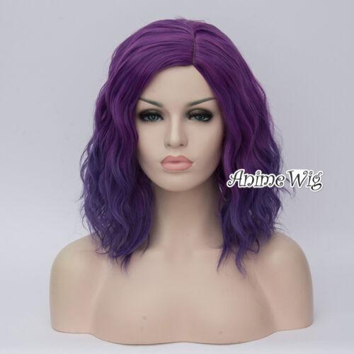 45cm Hitzebeständig lockig lang Anime Cosplay Perücke Halloween Synthetische Wig