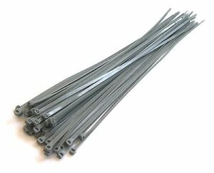 Extra-Long-Silver-Gray-Cable-Ties-380mm-15-034-Quality-Wheel-Trim-Ties-30pcs