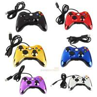 Wired USB Game Controller Gamepad Joypad Electroplating For MICROSOFT Xbox 360