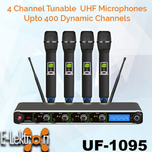 E-Lektron-Dynamic-UHF-wireless-Tunable-4-Handheld-Microphone-System-400-Channel