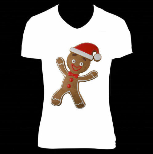 CHRISTMAS BOX IRON ON TRANSFER CUTE FUNNY GINGERBREAD MAN TO CREATE  T SHIRTS