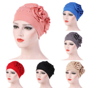 Women-Beading-Hat-Muslim-Ruffle-Cancer-Chemo-Beanie-Scarf-Turban-Wrap-Cap-Winter