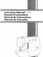 Brother Ls30 Sewing Machine Users Guide Owners Instruction Manual Book