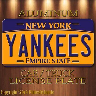 New York YANKEES BRONX BOMBERS Aluminum Novelty Car Truck License Plate