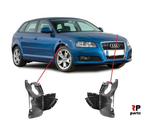 NUOVO AUDI A3 03-12 Front Wheel Arch Set 1ST /& 2ND parte Splash Guard copre L R