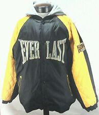 EVERLAST MMA Mens Jacket Coat Black Yellow Hooded Lined Winter Sz XL Rare