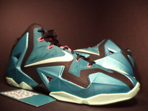 new style 6260a 52b89 Image is loading NIKE-LEBRON-XI-11-SOUTH-BEACH-TURQUOISE-GREEN-