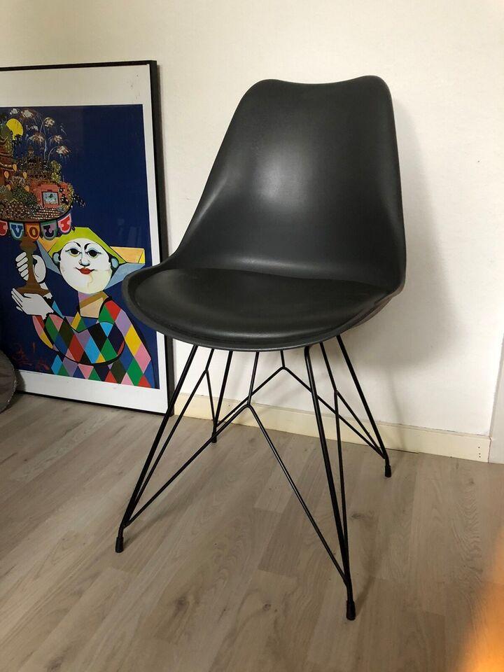 Spisebordsstol, Læder og plastik, Ilva