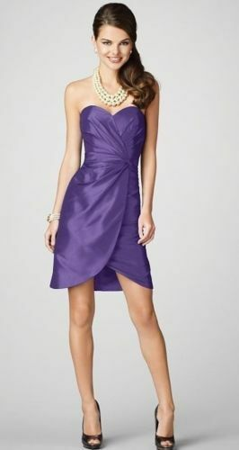 Alfred Angelo 7207 Size 8 Bridesmaid Dress Formal Mulberry Purple Short Sezy