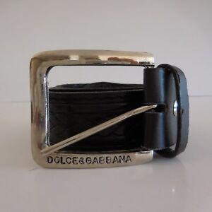 346ae3161632 Ceinture femme vintage DOLCE   GABBANA cuir KEYWEST made in Italy   eBay