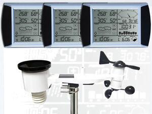 WH1080-SE-TRIPLE-3-Displays-Profi-Funk-Wetterstation-Solar-Neuer-Aussenmast
