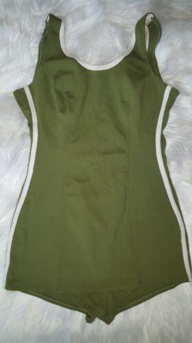 """Vintage 1950's Lime Green Swim Suit """"Over Five Sev"""
