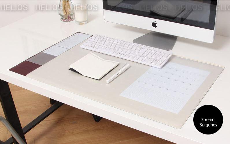 10day shipping, Wide Desk Mat Cream burgundy 28x17  Nonslip Office Pad Big size