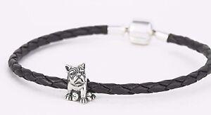 French-Bulldog-Charm-Bead-Elegant-SILVER-Jewellery-Animal-Charm-for-Bracelet