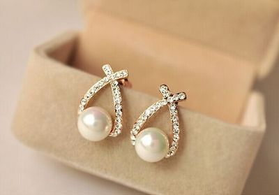 New Style Women Fashion Elegant Crystal Rhinestone Studs Earrings FC-A2149