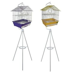 HERITAGE-ALBANY-BIRD-CAGE-amp-TRIPOD-BIRD-CAGES-STAND-GREAT-VALUE-BUDGIE-CANARY
