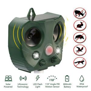 Répulsif à Ultrasons Pest Repeller Solaire Ultrasonique Animaux Chat/Rongeurs
