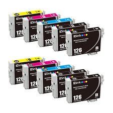 10PK 126 Ink Cartridges For Epson Stylus NX430 Workforce 635 645 840 845