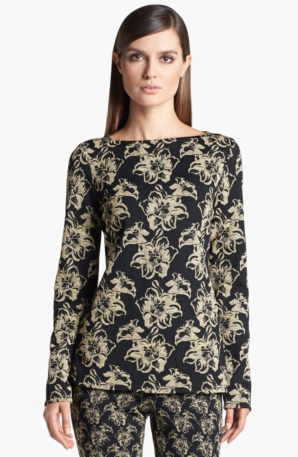 St. John Collection Lily Shimmer Jacquard Top  ( Size M)