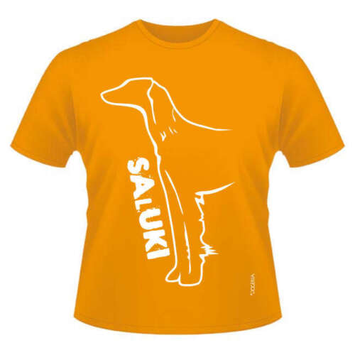 Saluki Dog Breed T-Shirts Dogeria Design Round-Neck Style Men/'s /& Ladies