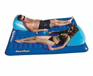 Inflatable floating pool chair lounge float raft water - Swimming pool floating lounge chairs ...
