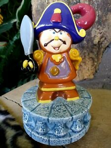 COGSWORTH MUSICAL SCHMID TURNING FIGURINE,HAND GLAZE DISNEY BEAUTY & BEAST,w/Tag