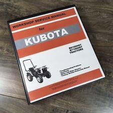 Kubota B6100hst B7100hst Tractor Service Repair Manual Workshop Dealer Shop Book