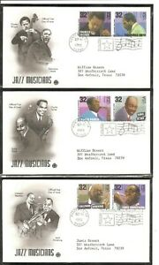 US-SC-2983-2992-American-Music-Series-FDC-Postal-Commemorative-S-Cachet
