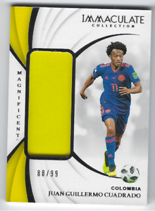purchase cheap fb8ff 074fd Details about JUAN CUADRADO 2018-19 PANINI IMMACULATE SOCCER GAME USED  JERSEY RELIC /99